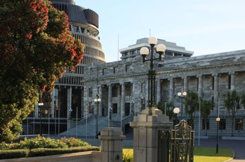 Parliament House and the Executive Wing (Beehive).